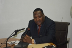 Executive Secretary, Nigerian Shippers Council [NSC], Mr. Hassan Bello, speaking during the courtesy visit