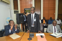 Director, Legal Services, NSC, Mr. Samuel Vongtau, speaking during the courtesy visit
