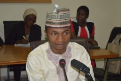 Chief Executive of Connected Development [CODE], Mr. Hamza Lawan, speaking during the courtesy visit