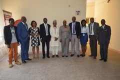 Mrs. Rasheedat Okoduwa [5th R] and Mr. Hamza Lawan [5th L] in a group photograph with officials of CODE and ICPC management staff