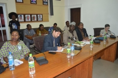 A cross section of Transparency International officials during the courtesy visit