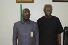 NACC Chairman, Rev. Massi Gams (L) and ICPC Chairman, Mr. Ekpo Nta (R) during the courtesy visit