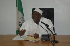 ICPC Acting Chairman, Hon. Bako Abdullahi, speaking during the visit