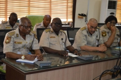 A cross section of NIS officials during the courtesy visit