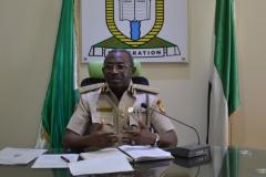Controller-General, Nigeria Immigration Service [NIS], Muhammed Babandede, speaking during the courtesy visit