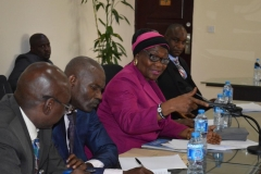 ICPC Spokesperson and Director, Public Enlightenment, Mrs. Rasheedat Okoduwa, speaking during the courtesy visit
