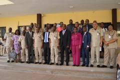 A group photograph of officials during the courtesy visit