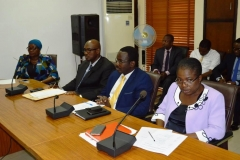 A cross-section of ICPC management staff present at the inauguration