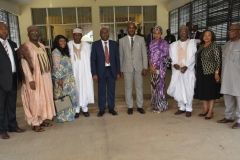 ICPC Chairman, Prof. Bolaji Owasanoye in a group photograph with the new board members