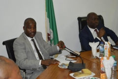 Secretary to the Commission, Dr. Musa Usman Abubakar, speaking at the meeting