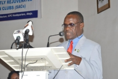 Director, Education Department of ICPC, Mohammed Ashiru Baba, speaking at the ceremony.