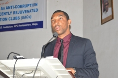 Head of Operations, Youth Alive Foundation [YAF], Chris Anyim, speaking at the ceremony
