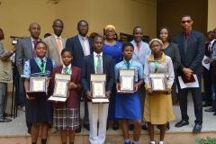 The five winners in a group photograph with ICPC and YAF officials.