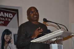 Provost, Anti-Corruption Academy of Nigeria (ACAN), Prof. Sola Akinrinade, giving the welcome address at the workshop